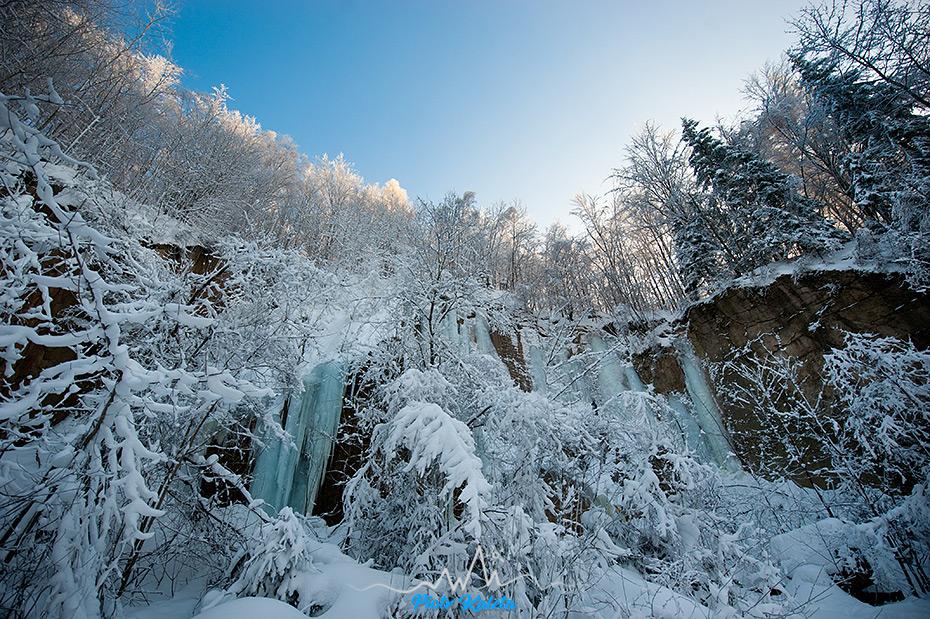 Oldřichovský lom, lodospady, wspinanie, Czechy