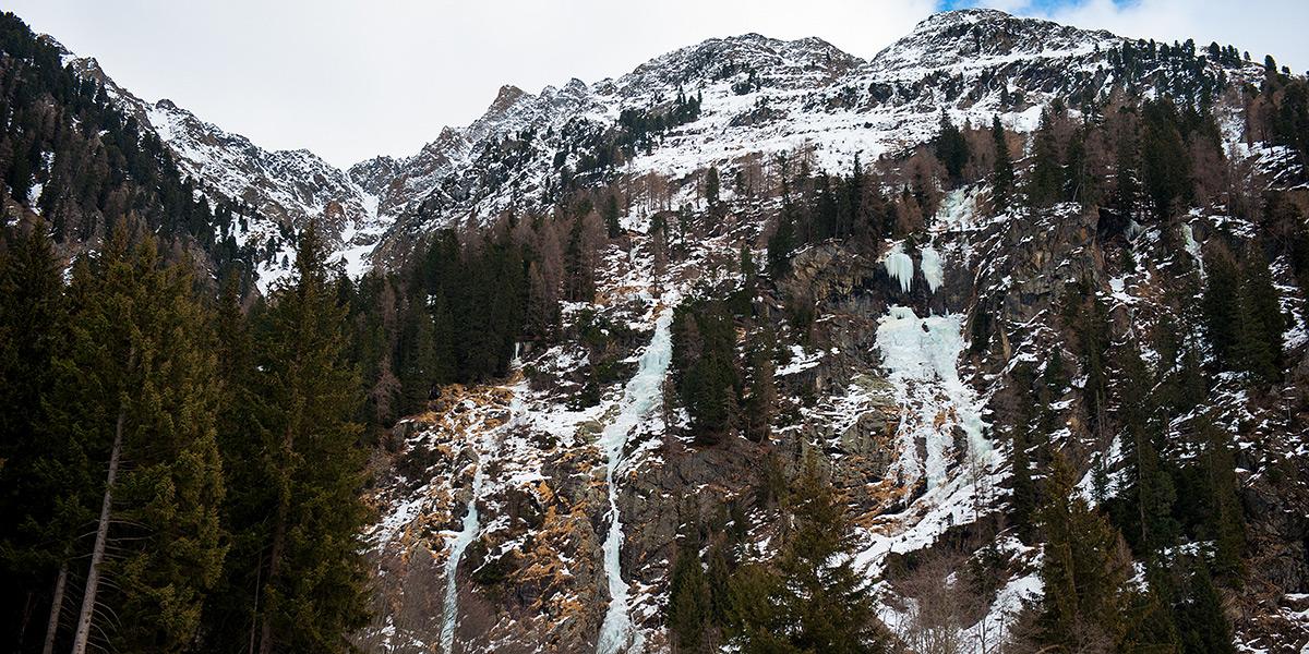 Kaunertal, Alpy, Austria, eisfalle, ice climbing, lód, lodospady, wspinanie